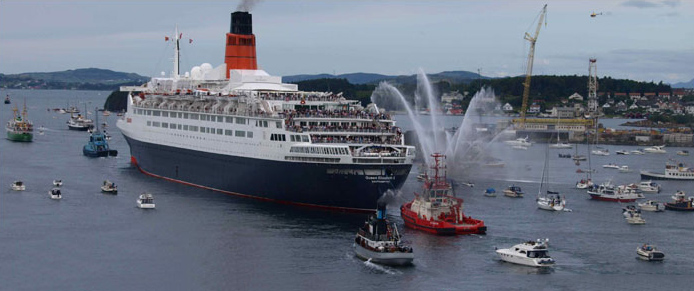INCREASINGLY LARGE CRUISE SHIPS ARE VISITING WALES.